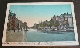 Rotterdam 1924, Schiekade, Straßenbahn Links Im Bild, Grachten, Leute - Rotterdam