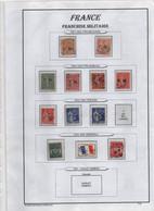 France Maury FM 1/9 (Yvert 1/9) O Surchargé FM Sur Page D'album - Franchise Stamps