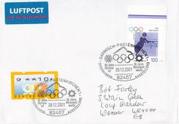 Germany Cover 2001 Garmisch-Partenkirchen 65 Jahre Olympia Ort (G125-82) - Winter 1936: Garmisch-Partenkirchen