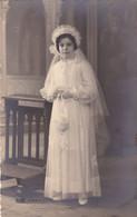 Carte Photo, Photocard, Wedding Bride In The Dress, Phot. G Flaneng Saint Ghislain (pk82020) - Marriages