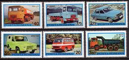 ++ RUMANIA / ROMANIA / ROUMANIE  Año 1975  Yvert Nr. 2928/33 Nuevo Coches - Ungebraucht