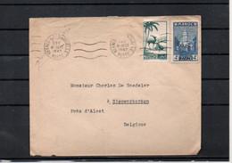 MAROC - MOROCCO -  MEKNES VILLE NOUVELLE 1947  Vers BELGIQUE NIEUWKERKEN ALOST-  B15 - Covers & Documents