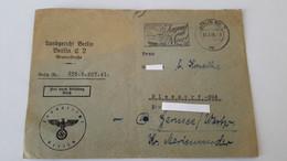 Briefumschlag Langericht Berlin 1944 Stempel - 1939-45