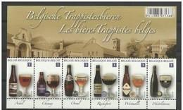 Blok 197** 6 Belgische Trappistenbieren - Feuille Les 6 Bières Trappistes Belges MNH 4195/4200** Six Timbres Europe!!! - Bloques 1962-....