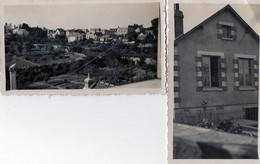 """2  PHOTOS   ANCIENNES -  SAINT CYR SUR LOIRE  (37)  Villa Les  """" Capucines """"   - Vue Prise De La Fenetre De La Chambre - - Places"""