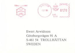Sweden Card W/Meter Lidingö 1986 Silversponsor 1992 Falun - Candidate City For The 1992 Winter Olympics (G125-81) - Winter 1992: Albertville