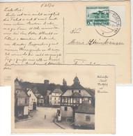 DR - 6 Pfg. Gautheater Saarpfalz Randstück Karte Vilbel (Main-Weser-Bahn) 1938 - Storia Postale