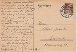 DR-Infla - 40 Pfg. By-Abschied/DR Unterrandtsück Karte Bad Reichenhall 1921 N. - Briefe U. Dokumente