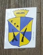 AUTOCOLLANT STICKER - CTA ARLANC - CLUB DE TIR ARLANCOIS - CARABINE - PISTOLET - PORT - CLUB SPORTIF - Stickers