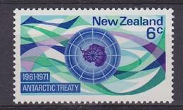 New Zealand 1971 Antarctic Treaty 1v  ** Mnh (52298) - Ungebraucht