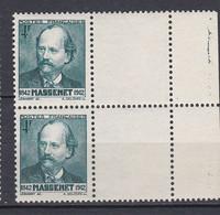 N° 545 Centenaire De La Naissance De Jules Massenet : Belle Paire De 2 Timbres Neuf Impeccable Sans Charnière - Unused Stamps