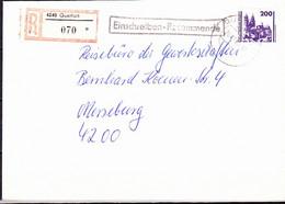 DDR GDR RDA - Freimarke Bauwerke - Magdeburger Dom (MiNr: 3351) 1990 - Auf E-Brief (portogerecht) - Covers & Documents