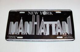 USA Metal (tin) New York Designer Plate 'Manhattan' - Size 30x15cm - NEW ! - Plaques En Tôle (après 1960)