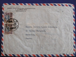 Très Belle LETTRE - CHINE - SHANGHAI - CHINA - 2. Weltkrieg 1939-1945