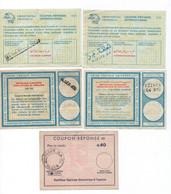 ALGERIE ( Lot De 5 )- Coupons Réponse  De 0.80, 1.20 1.80 2.70 Et 0.40  Dinar    -   Voir Scans - Algeria (1962-...)