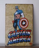 USA Metal (tin) Plate 'Captain AMERICA' Retro Style Special USA Edition - 30x20cm - NEW ! - Plaques En Tôle (après 1960)