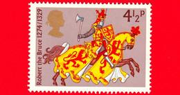 Nuovo - MNH - INGHILTERRA - GB - 1974 - Guerrieri Medievali - Robert The Bruce - 4 ½ - Nuevos