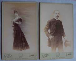 GRANDES PHOTOS SUPPORT CARTONNÉ. SUPERBE COUPLE IDENTIFIÉ. OTTO, PARIS, FIN XIXe SIÈCLE - Antiche (ante 1900)