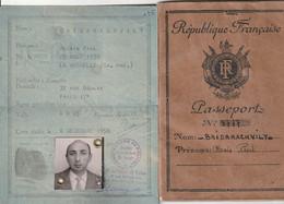 Passeport+c Identité ( La Rochelle Nb Vignettes Avec Cachets ) - Historical Documents