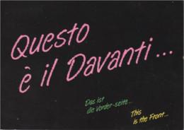 QUESTO E' IL DAVANTI - Das Ist Die Vorder-seite - This Is The Front - By Night - Humour
