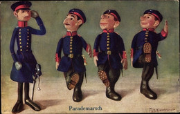 Artiste CPA Hildebrandt, Fritz, Parademarsch, Puppen Soldaten, Tuck Im Bunten Rock 502 - Giochi, Giocattoli
