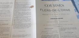 FLERS DE L ORNE COURSES HIPPIQUES 13 - 14 JUILLET 1884 - Programma's