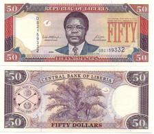 Liberia - 50 Dollars 2008 P. 29c AUNC / UNC Lemberg-Zp - Liberia