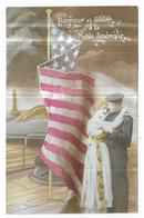 Marin Femme Drapeau Américain Honneur Et Gloire à La Noble Amérique - Patriottiche