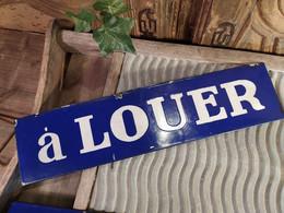 Ancienne Plaque Emaillée A LOUER / Enamel Sign - Indications