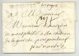 MOYENVIC 1748 Pour Nantes Au Marquis De Montplaisir Au Chateau De La Guerche Pres Paimboeuf - 1701-1800: Precursors XVIII