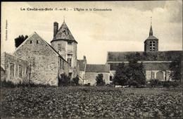 CPA La Croix En Brie Seine Et Marne, Eglise Et Commanderie, Vue Générale - Altri Comuni