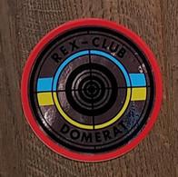 AUTOCOLLANT STICKER - REX-CLUB - DOMERAT - STAND DE TIR - SPORT - CLUB SPORTIF - Stickers