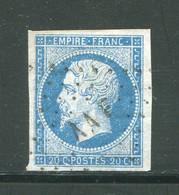 Y&T N°14A- Campagne D'Italie Contre L'Autriche- Armée Des Alpes- Bureau Mobile F (AAF) - 1853-1860 Napoleone III