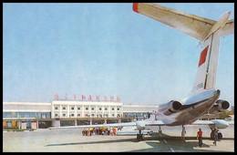 ASTRAKHAN, RUSSIA (USSR, 1981). AIRPORT. Airplane YaK-40. Unused Postcard - Aeródromos