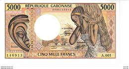 Gabon P.6a 5000 Francs 1984 Unc - Gabon