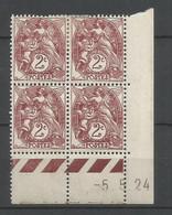 Coins Datés De France Neuf *  N 108  Année 1924  Charnière En Haut - ....-1929