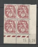 Coins Datés De France Neuf *  N 108  Année 1926  Charnière En Haut - ....-1929