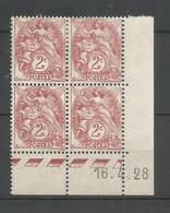 Coins Datés De France Neuf *  N 108  Année 1928  Charnière En Haut - ....-1929