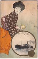 Nipon Yusen Kaisha S. S. Mishima Maru - & Boat - Paquebote