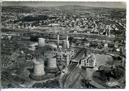 CPSM 71 MONTCEAU LES MINES Vue Aérienne Sur La Centrale Electrique - Montceau Les Mines