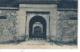 94 - NOGENT - T.Belle Carte Animée Bleutée Du Fort De NOGENT - Nogent Sur Marne