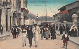 FORMIA ITALY~STROLLING ON VIA VITRUVIO-TINTED PHOTO POSTCARD 52940 - Latina