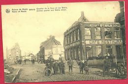 C.P Menen  = Puinen  Oorlog 1914-1918 : Quartier De La GARE Et  Rue  WAHIS - Menen
