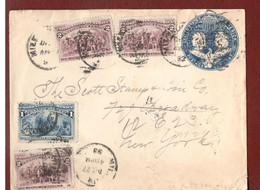 Columbusganzsche Bedarfsgebraucht, 1893 Als MiF. - ...-1900