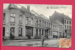 C.P Menen  = Puinen  Oorlog 1914-1918 : Rue  D' Ypres - Menen