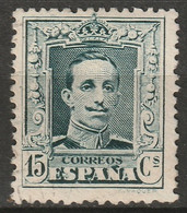 Spain 1922 Sc 336a  Lightly Used Type II Black Green - Gebraucht