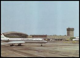 KYIV, UKRAINE (USSR, 1985). BORYSPIL AIRPORT. Aircraft TU-134A. Unused Postcard, AEROFLOT Edition - Aeródromos