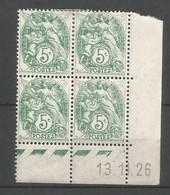 Coins Datés De France Neuf *  N 111  Année 1926  Charnière En Haut - ....-1929