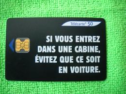 7131 Télécarte Collection   Sécurité Routière Si Vous Entrez Dans Une  Cabine..  50u  ( Recto Verso)  Carte Téléphonique - Altri