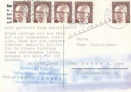 DEUTSCHE BUNDESPOST 1974, MEF Auf Werbe Ak Nürnberg > Baden B.Wien - Zonder Classificatie